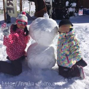 タングラム雪遊び