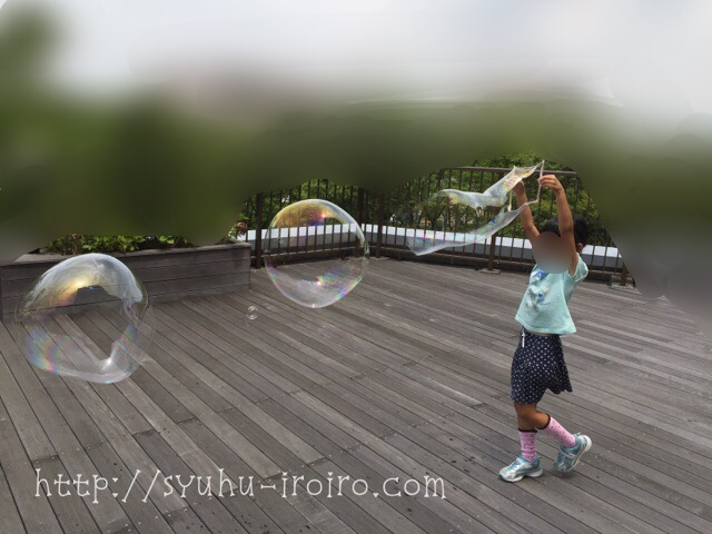 巨大シャボン玉