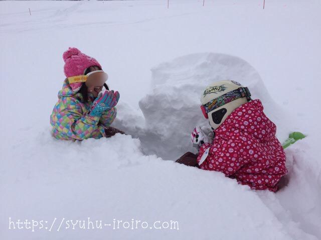 黒姫高原雪遊び