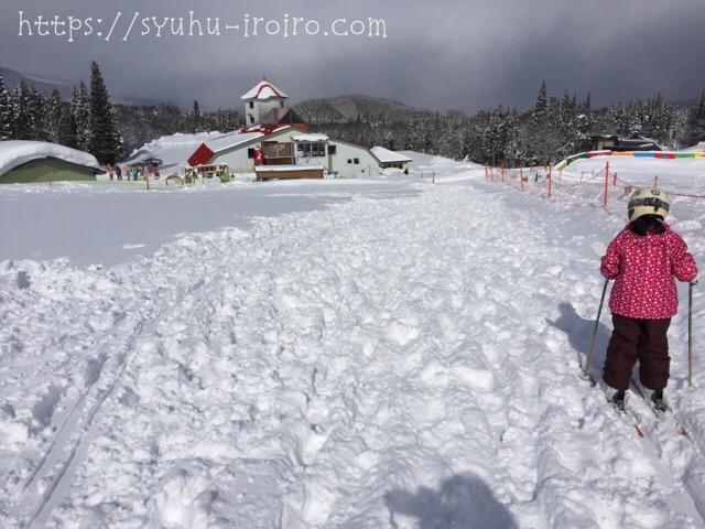 黒姫高原キッズゲレンデ圧雪
