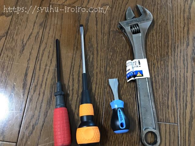 シャワーの水漏れ工具