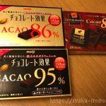 チョコレート効果とカレ・ド・ショコラの栄養成分表示比較【糖質制限】