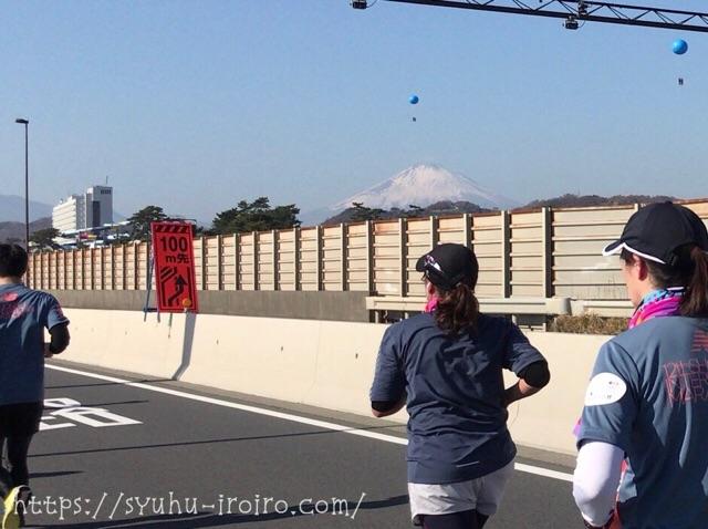 富士山が見えるマラソン